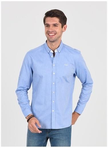 UCLA Ucla Jackson Mavi Erkek Gömlek Mavi